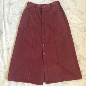 Vintage Patagonia button front skirt